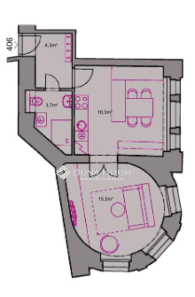 Prodej bytu, Štěpánská, Praha 1 Nové Město